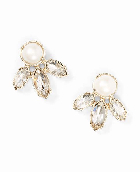 Pearlized Crystal Earrings | Ann Taylor
