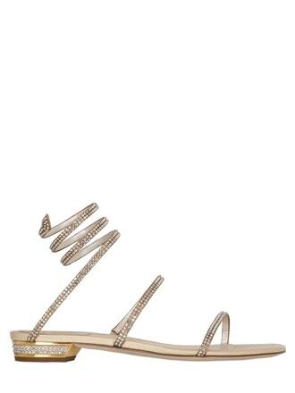snake sandals satin champagne shoes