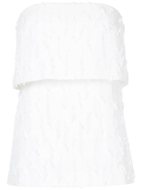 Manning Cartell top strapless top loose strapless women white cotton