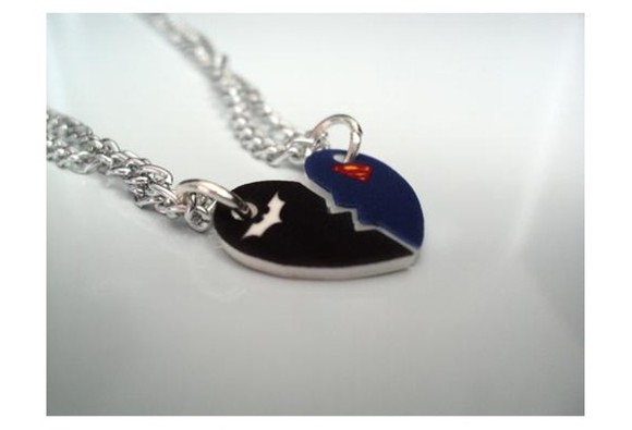 jewels necklace friends love batman superman eroes best jewelry