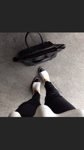 shoes,black white chanel tumblr clothes prada celine,bag
