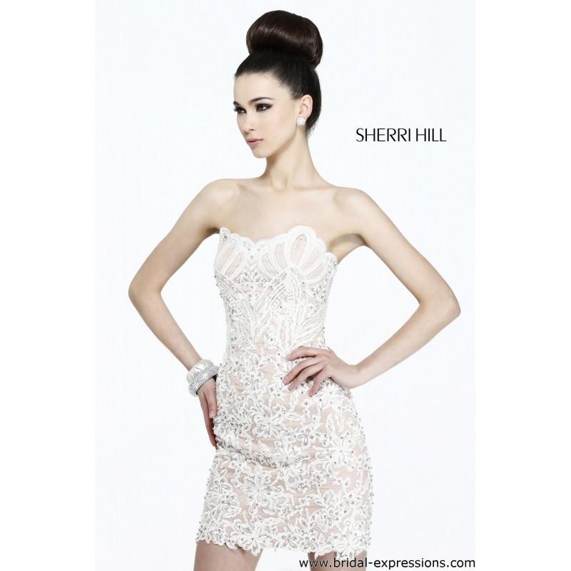 Sherri Hill 21189 Short Lace Homecoming Dress - Crazy Sale Bridal Dresses|Special Wedding Dresses|Unique 2017 New Style Dresses