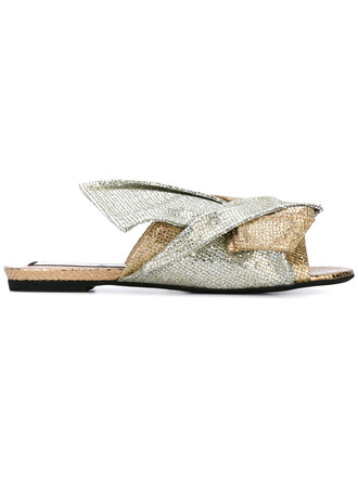 glitter metallic women sandals leather grey shoes