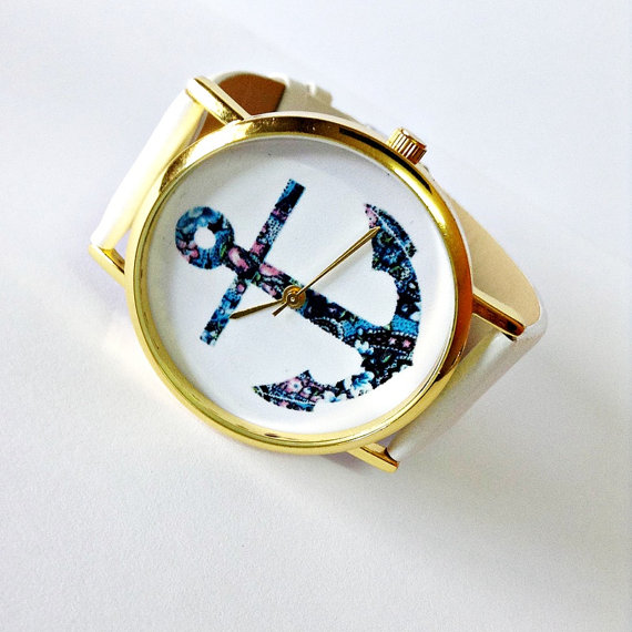 Anchor Watch Nautical watch Vintage Style Leather by FreeForme