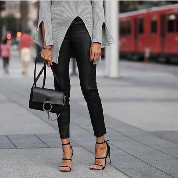 676a2cec1 bag tumblr black bag chloe faye bag chloe chloe bag black leather pants  leather pants black