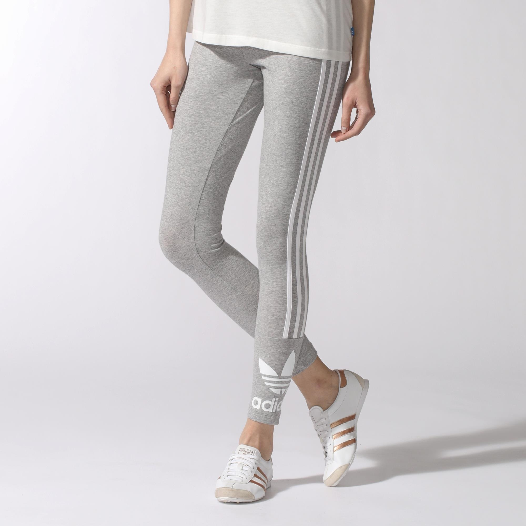 Stripes Leggings Women's GreyCanada 3 Adidas 4ScRq3LA5j