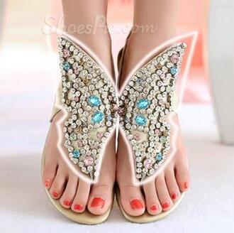 shoes butterfly shoes sandals butterfly butterfly sandals rhinestone sandals rhinestones rhinestone shoes