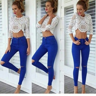 shirt crop tops white crop tops jeans