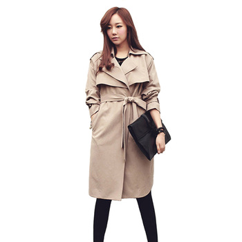 Aliexpress.com : buy women's long slim coat long sleeve single button cardigans blend with belt ruffles slim wind coat from reliable button suppliers on dola's wardrobe