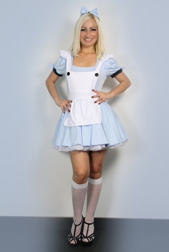 Sexy Halloween Womens Alice in Wonderland Fancy Dress Costume outfit S M L | Amazing Shoes UK