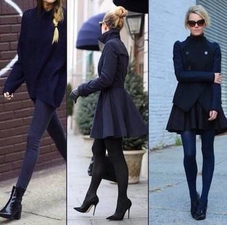 black coat long coat skater skirt skater skirt coat skater coat streetstyle high heels winter coat warm