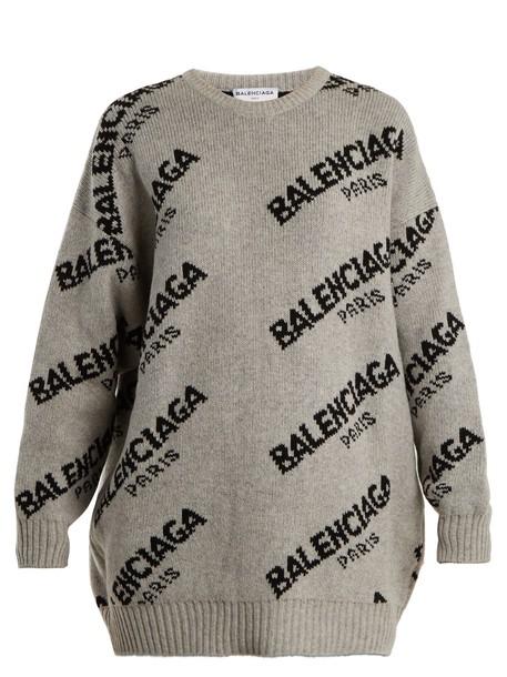 sweater long grey
