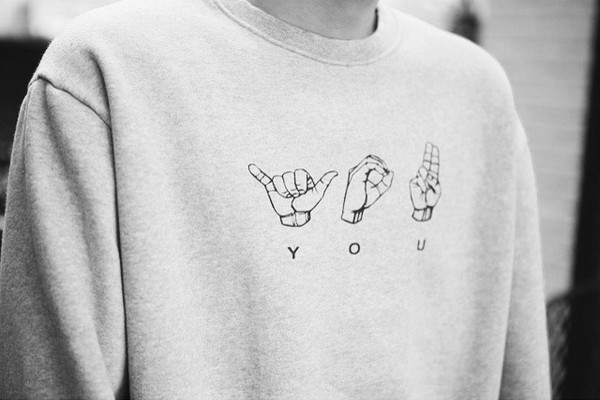 you sweater tumblr outfit grey sweater hands
