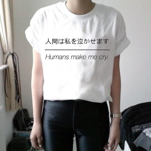 Shirt White T Shirt Tumblr Outfit Tumblr Shirt White Top