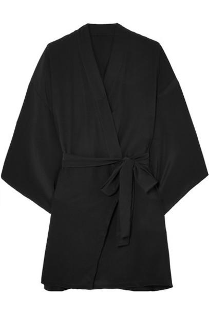 Le Petit Trou kimono black silk top