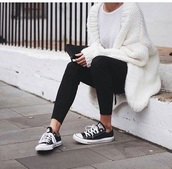 sweater,white,fluffy,comfy,loose fit sweater