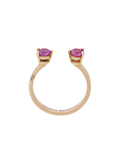Delfina Delettrez women midi ring gold pink yellow grey metallic jewels