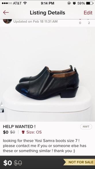 shoes yosi samra black slip on shoes oxfords leather shiny