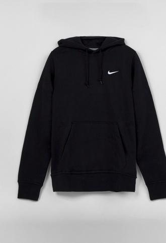 sweater nike black hoody hoodie swoosh