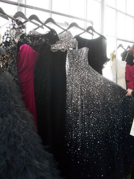 dress black dress sparkle sparkly dress sparkly black dress black and silver sparkly long dress