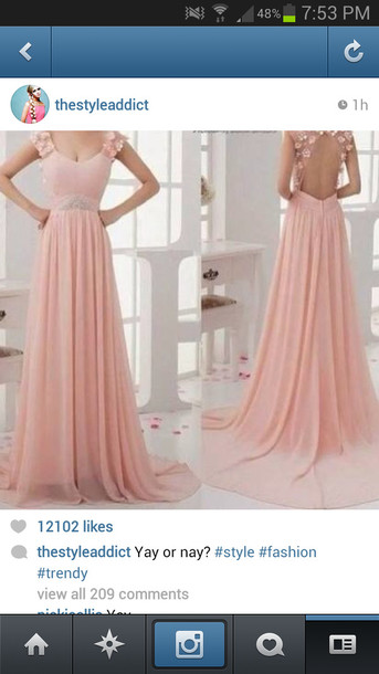 dress pink flowers prom dress long prom dress a line