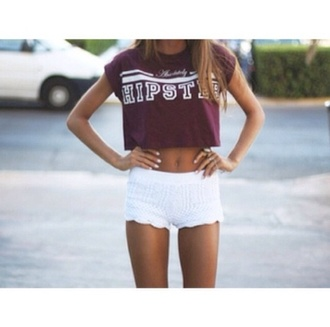 tank top burgundy hipster crop tops burgundy velvet crop top top shirt pants shorts white lace shorts summer outfits summer crush