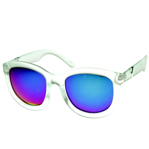 Frost Frame Mirrored Revo Sunglasses on StyleSays