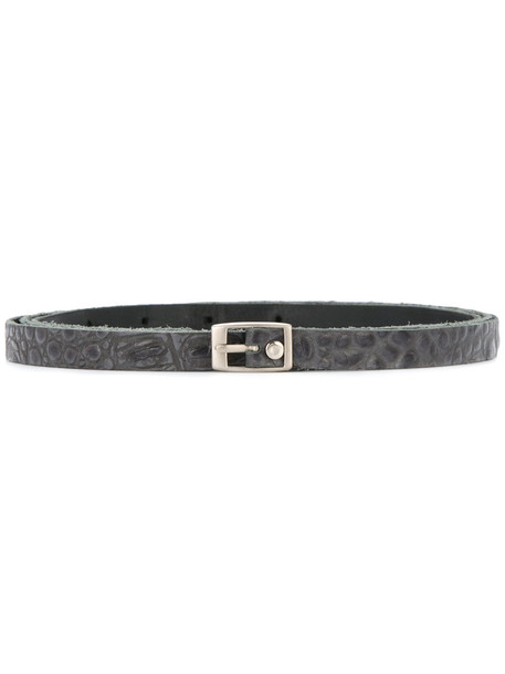 belt black crocodile