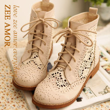 CREAM LACE COMBAT BOOTS on The Hunt