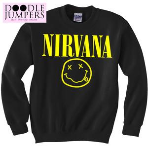 Nirvana grunge festival sweatshirt hip hop men women top sweater