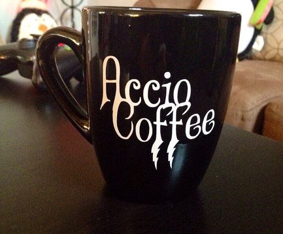 Accio Coffee. mug by thelittlevinylsaur on Etsy