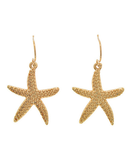 gold jewels starfish earrings preppy fashionist