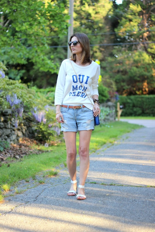 jess style rules shorts sweater bag shoes