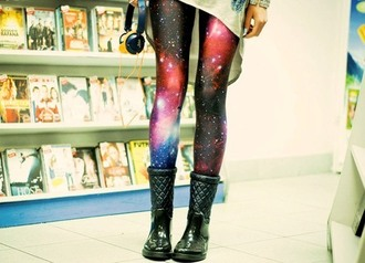 pants galaxy print nebula tights