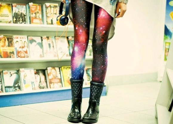nebula galaxy pants tights