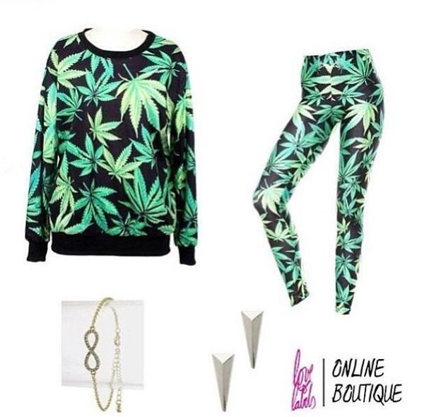 sweater weed pants marijuana