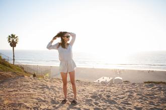 fashion toast blogger romper sunglasses