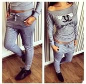 pants,tracksuit,chanel,homewear,chanel tracksuit