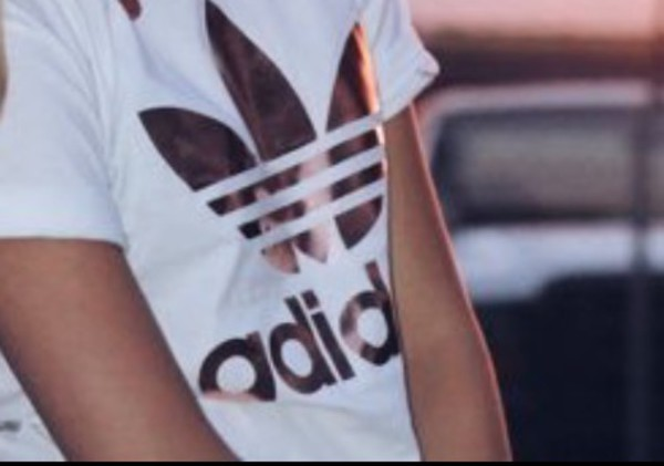 adidas originals rose gold tee