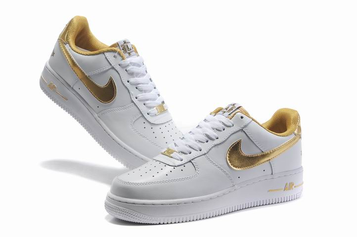 gold air force ones