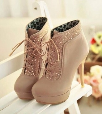 shoes beige beige shoes high heels diamonds beautiful shoes prom shoes perfection