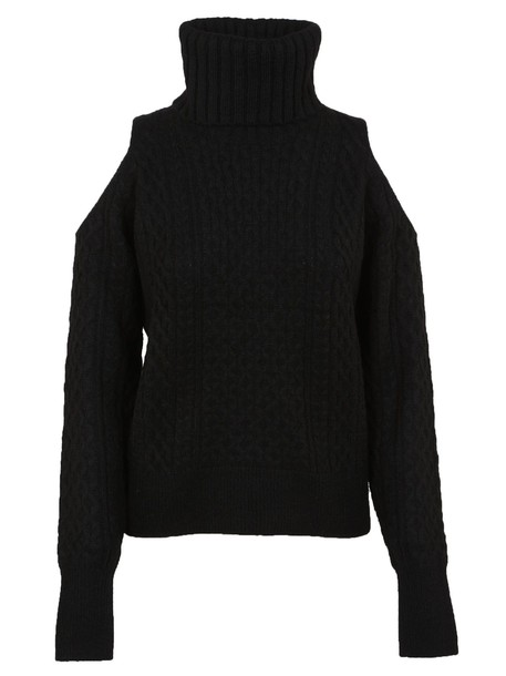 sweater turtleneck turtleneck sweater open black