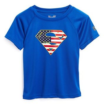 Under Armour 'Alter Ego USA - Superman' HeatGear T-Shirt (Little Boys) on Wanelo