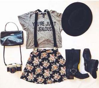 t-shirt skirt hat shoes