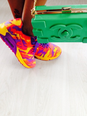 bag chanel shoes air max colorful red pink yellow violet