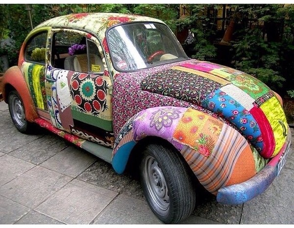 top car boho patchwork indie hippie gypsy