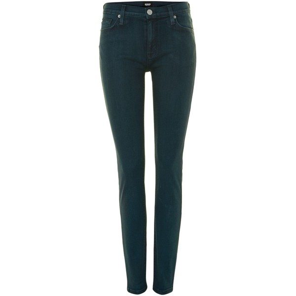 Hudson Jeans Nico super skinny coated jeans in India Green - Polyvore