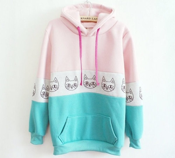sweater bernard lafond hoodie cats pin green thanks
