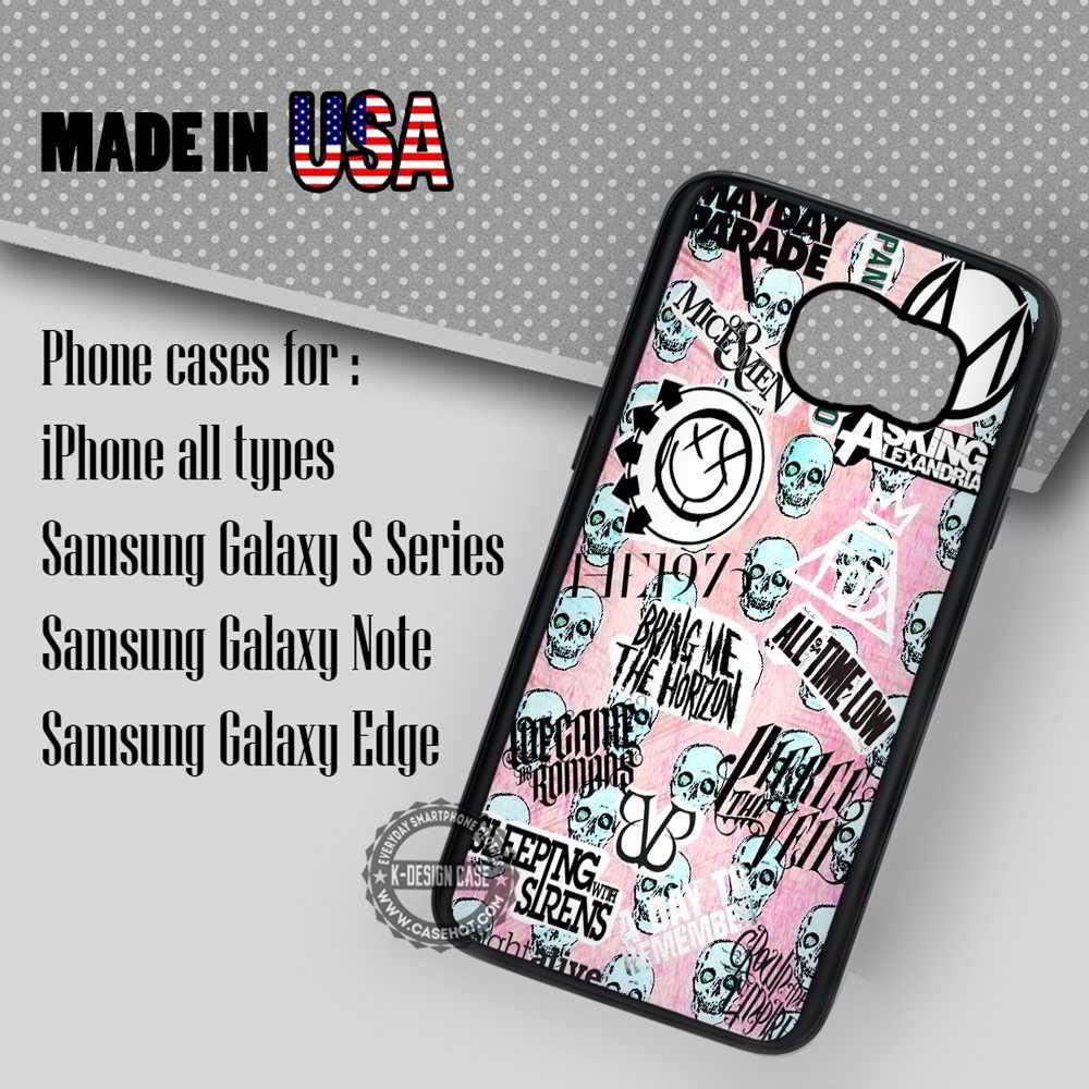 Skull in Pink Punk iPhone 7 7  6s 6 Cases Samsung Galaxy S8 S7 edge S6 S5 NOTE 5 4