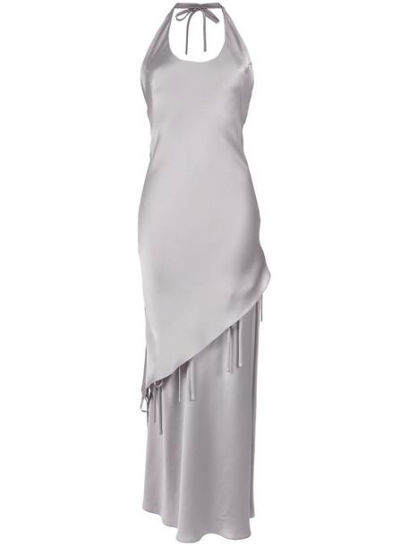 Gloria Coelho gown women grey metallic dress